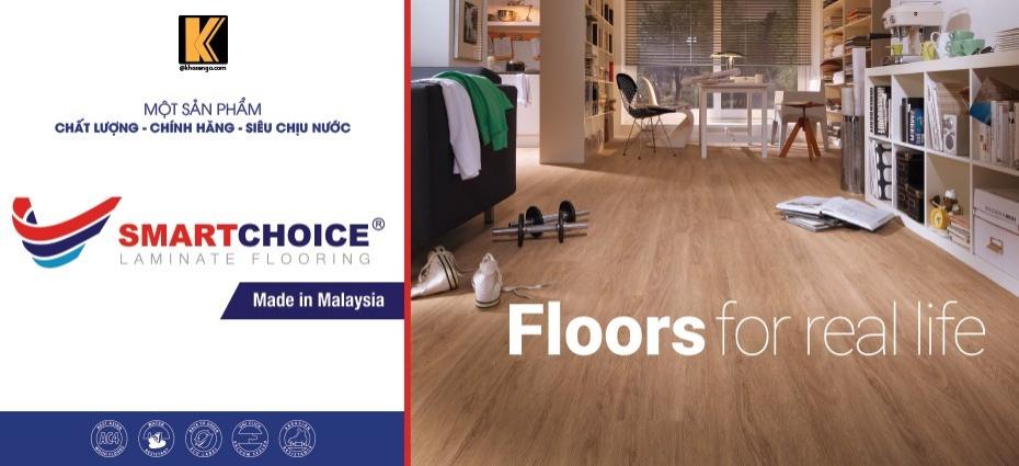 sàn gỗ Smartchoice sàn giá rẻ 12mm