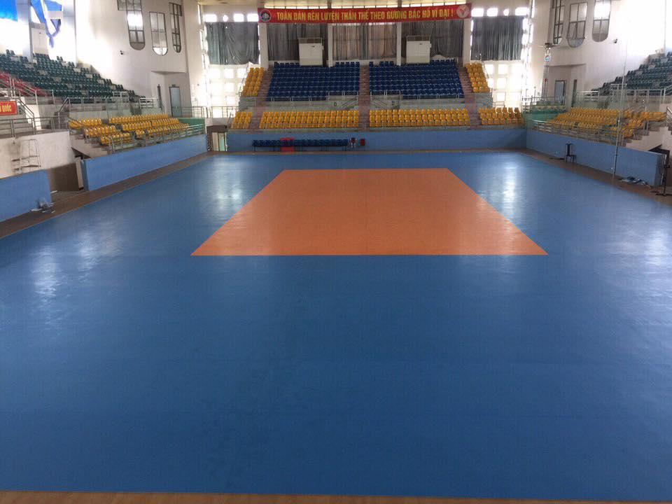 Hình nhà thi đấu sàn bóng chuyền