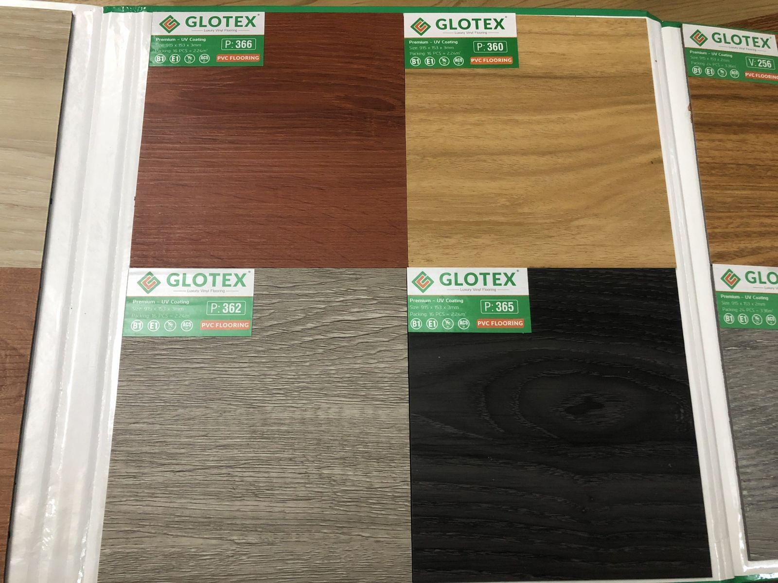 sàn nhựa Glotex giả gỗ
