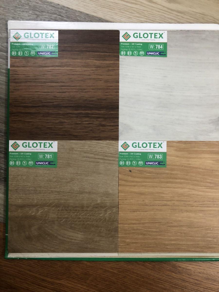 sàn nhựa hèm khóa  glotex