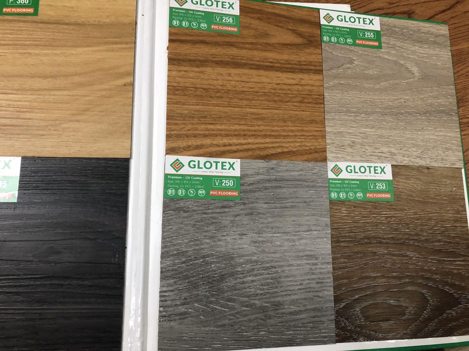 sàn vinyl giả gỗ glotex